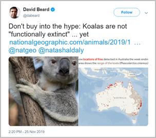 David Beard's tweet