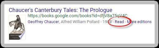 Google Scholar's read link