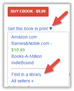 Google Scholar's find in a library option
