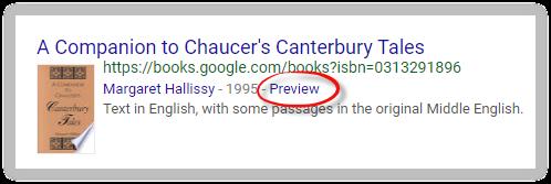 Google Scholar's preview option