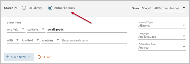 Searching in partner libraries