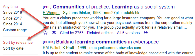 Sorting search results