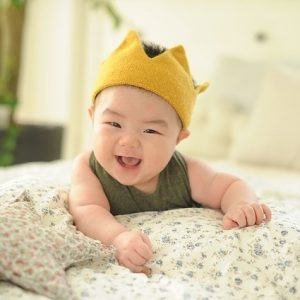 a happy smiling infant