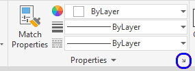 This captured image shows the properties setting panel. Once you click the arrow on the right bottom panel.