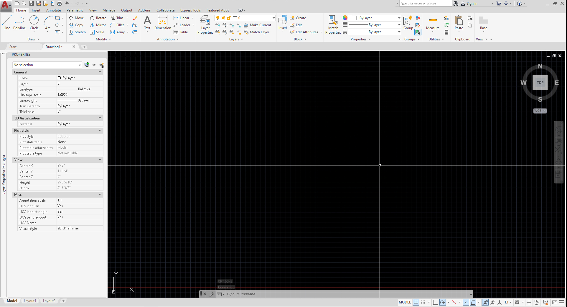 It shows the Interface after setting changes. The window color changed to white, the background changed to black color, the cross-hair extended to the end of the window.
