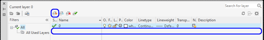 It shows how to create a new layer. You must click the new layer icon to create a new layer.