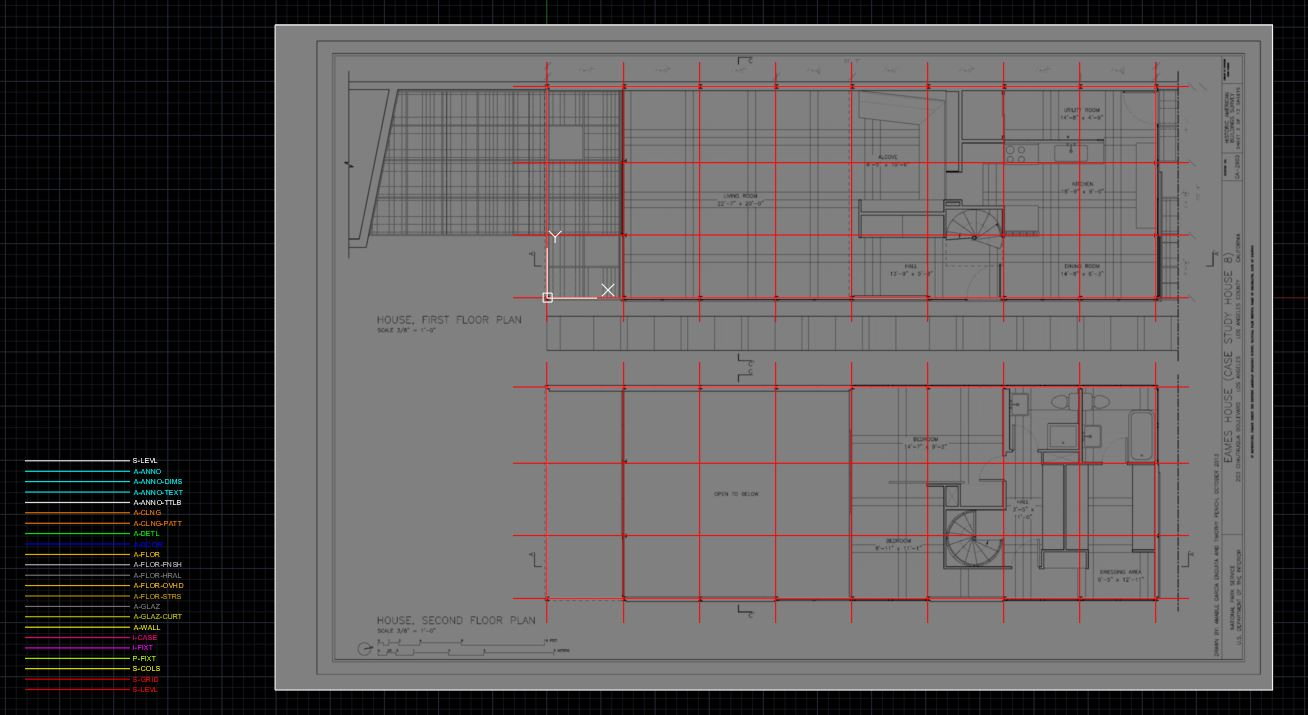 It is the final image of the course objective 2. All of the column grids are drawn.