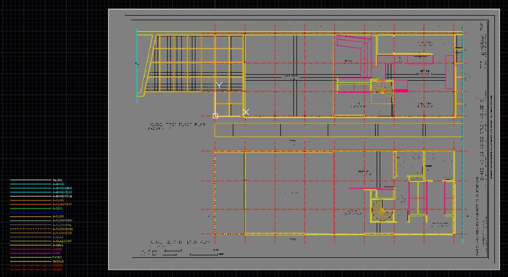 By using line, pline, spline, circle, rectangle, mirror, fillet, extend, array, and match properties, draw this floor plan