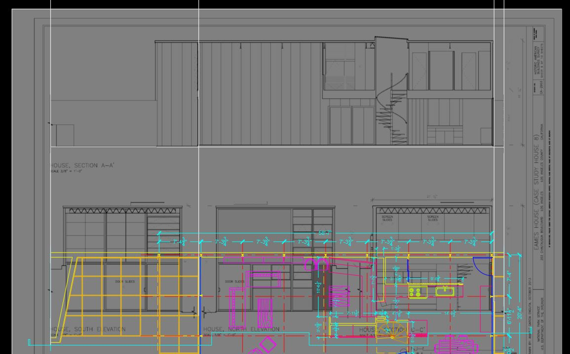 It shows how to relocate and rescale the inserted section plan.