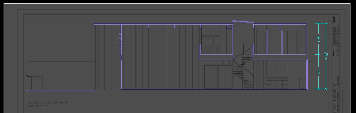 It shows how to create section lines.