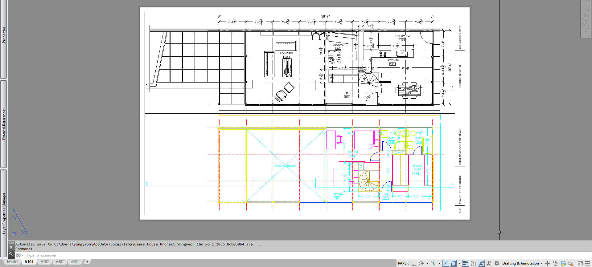 It shows the process image copying a view port.