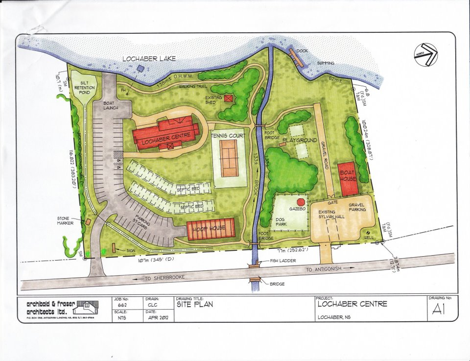 It shows a site Plan example by Lochaber Centre Site Plan.