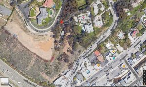 It shows the Eames House satellite image from google.