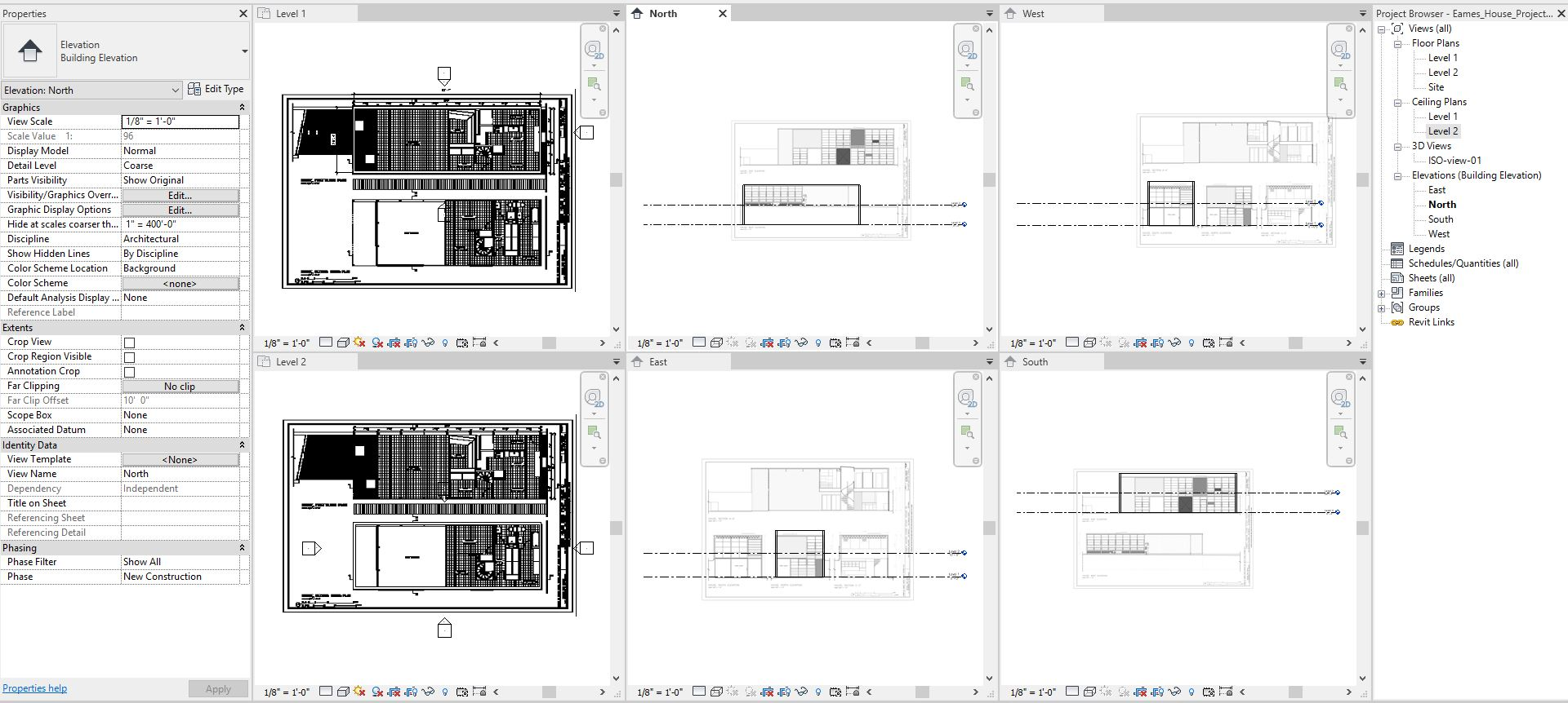 It shows the import drawings for all views.