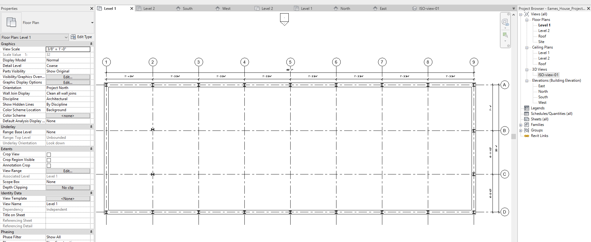 It shows the resulting image after adding columns.