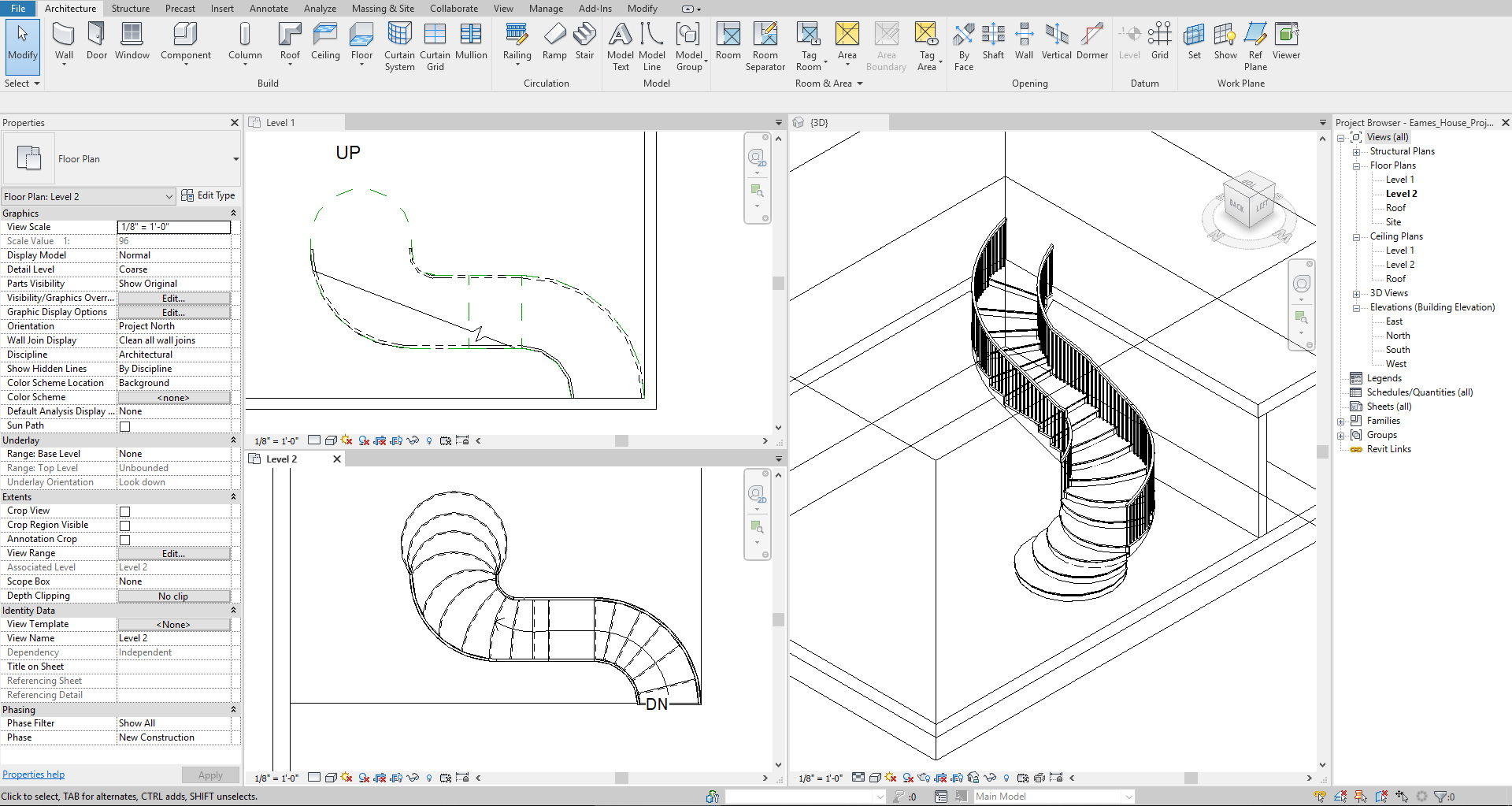 It shows the custom stair.