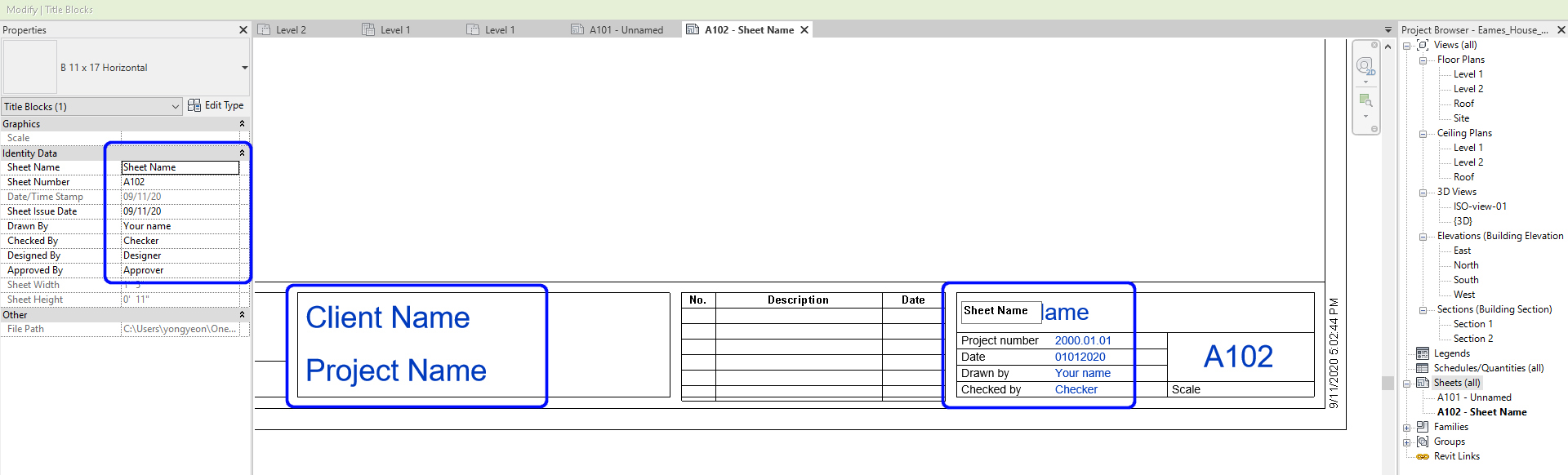 It indicates what to update for the sheet information.
