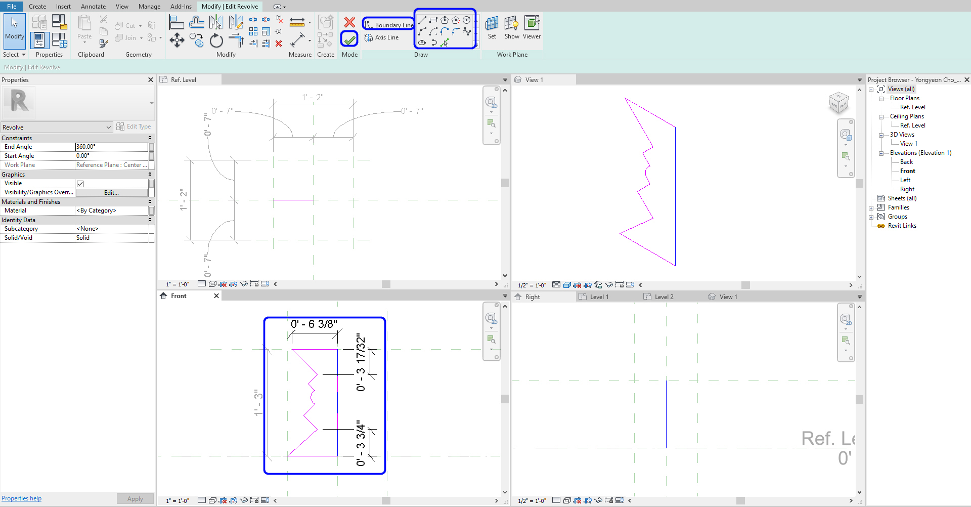 It indicates how to draw boundary lines for the stool.